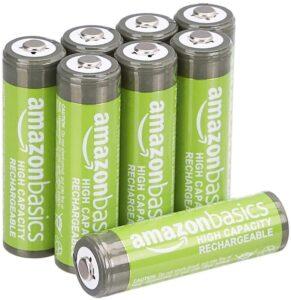 AmazonBasics AA High-Capacity Ni-MH Rechargeable Batteries (2400 mAh)