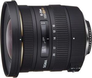 Sigma 10-20mm f/4-5.6 EX DC HSM Lens for Nikon Digital SLR