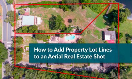 How to add property lot lines to an aerial real estate shot