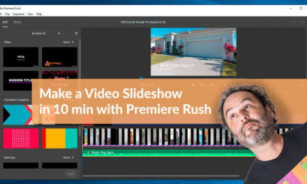 How to create a video slideshow in under 10 minutes with Premiere Rush