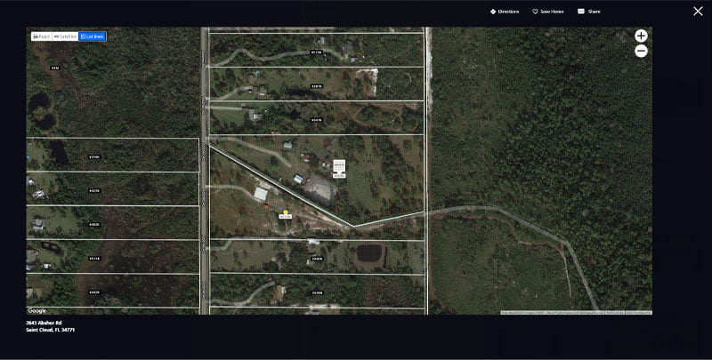 Zillow Lot Lines