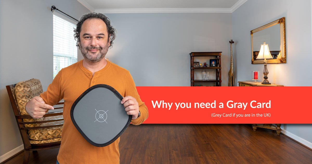 Why real estate photographers need a gray card in their camera bag